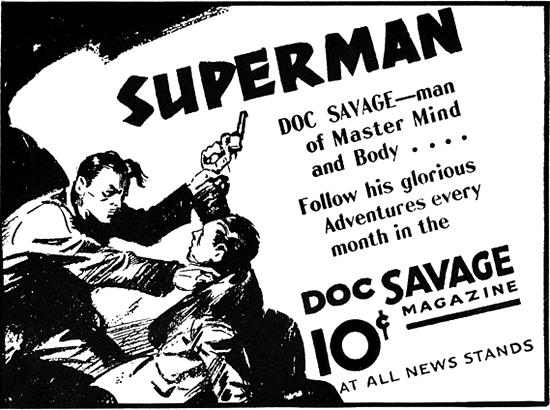 """Doc Savage """"Superman"""" ad"""