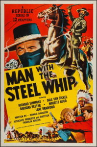 Poster for Man with the Steel Whip.