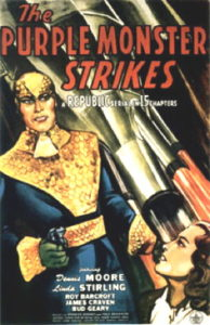 Poster for The Purple Monster Strikes.