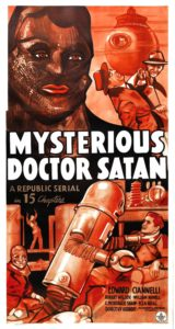 Movie poster for Mysterious Doctor Satan.