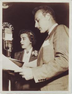 Bret Morrison and Gertrude Warner.