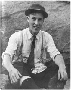 Erle Stanley Gardner as a teenager.