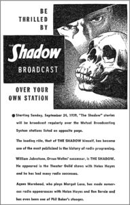 When Bill Johnstone took over the role, the magazine ran this ad.