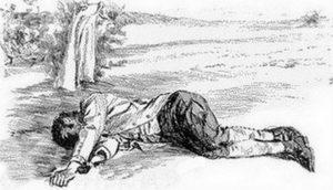 The dead body of Barton Chittenden.