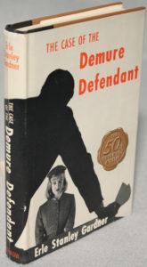 Hardback cover for the Demure Defendant.