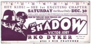 Another ink blotter, this time for the Shadow serial.