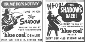 Two small newspaper ads for The Shadow (courtesy of Martin Grams Jr.)