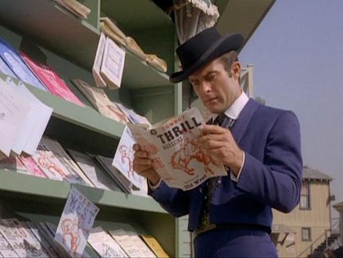 """James West reads """"Cowboy Thrill Magazine"""" on """"The Wild, Wild West"""""""