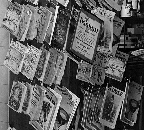 "A movie studio ""newsstand"""
