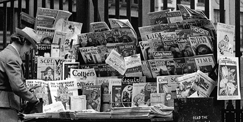 New York newsstand in 1946