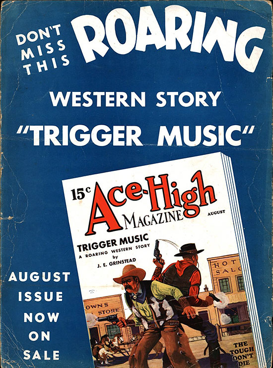 A poster for Ace-High Magazine