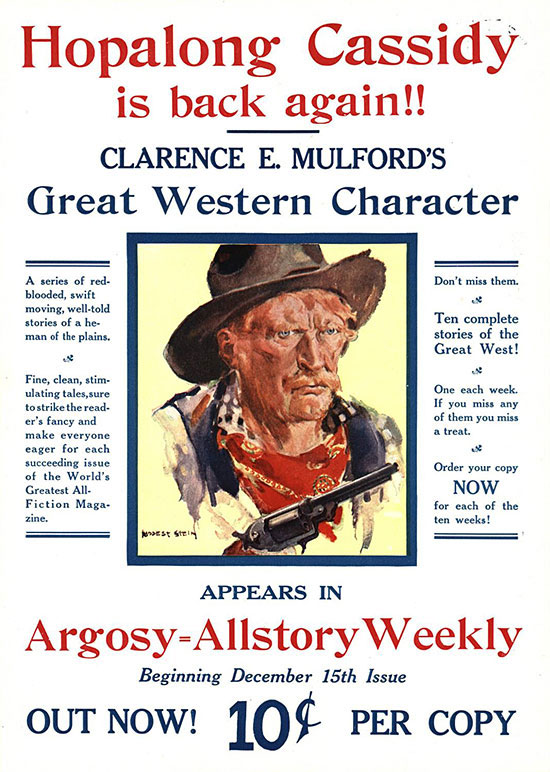 A poster for Argosy-All-Story Weekly