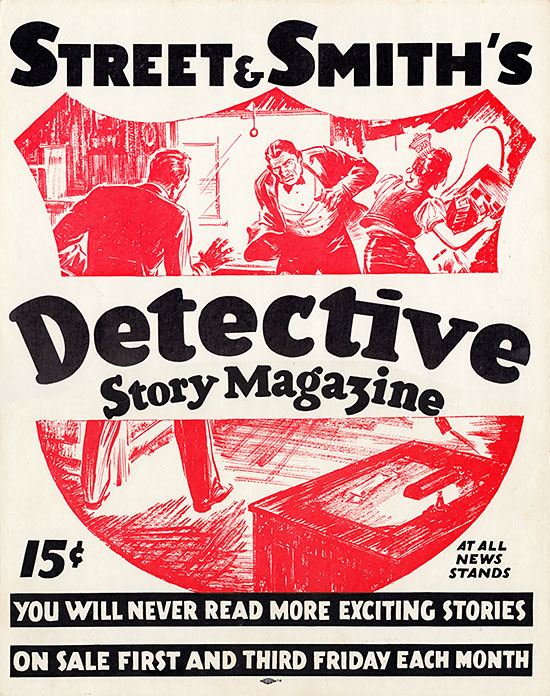 A poster for Detective Story Magazine
