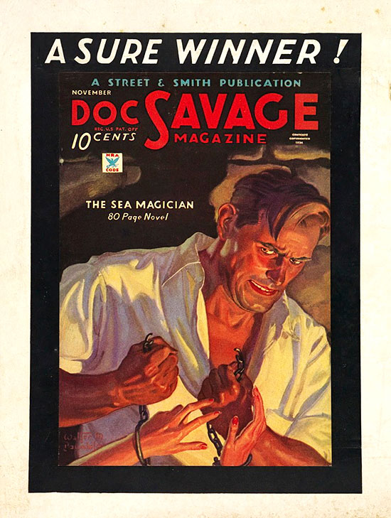 A poster for Doc Savage Magazine