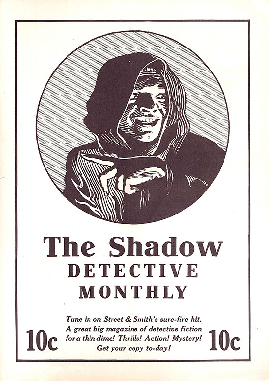 'The Shadow' ad from 'Picture Play' (May 1932)
