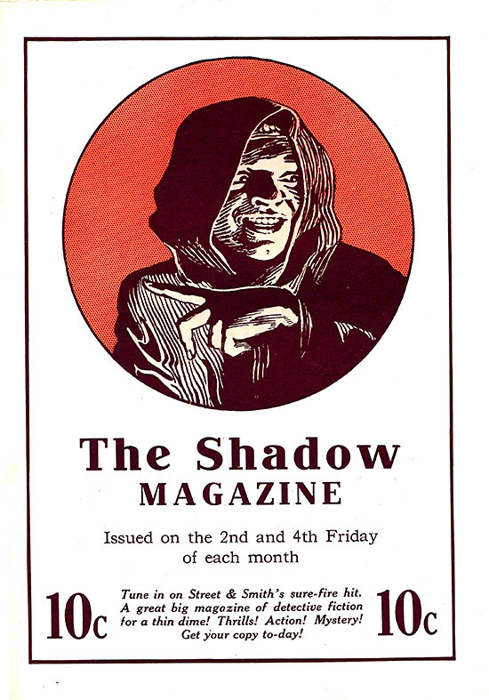 'The Shadow' ad from 'Picture Play' (February 1933)