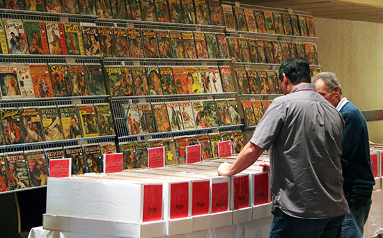 Shopping for pulps at PulpFest 2014