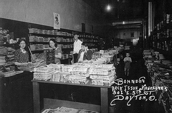 Bonnett's Book Store in 1941.