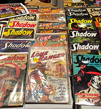 """Anthony Tollin's dealer table featured a complete run of """"The Lone Ranger"""" pulp series, as well as plenty of pulps and Sanctum Books' reprints featuring """"The Shadow,"""" """"Doc Savage"""" and more."""