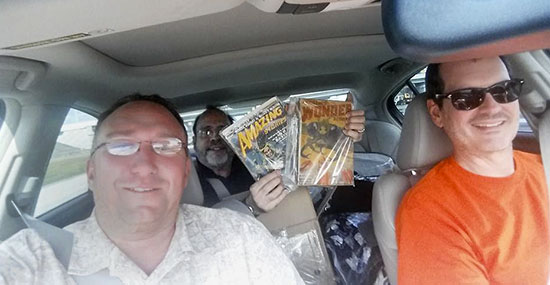Jeff Shanks, Mike Hunter and me on our road trip to Pulp AdventureCon 2016.