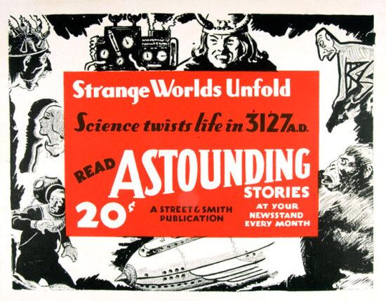 'Astounding Stories' poster