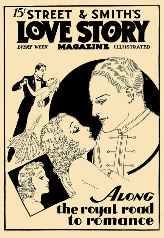 An ad for 'Love Story Magazine' from March 1934