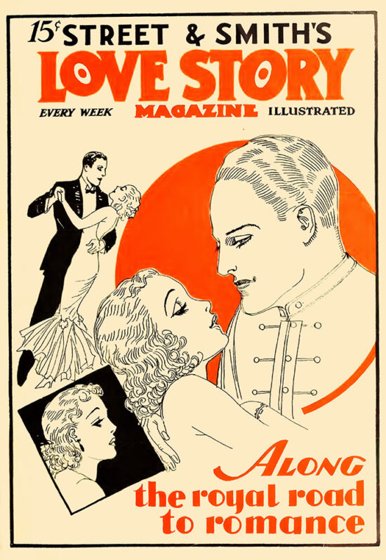 An ad for 'Love Story Magazine' from April 1934