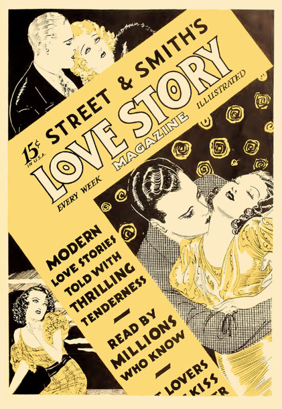 An ad for 'Love Story Magazine' from May 1934