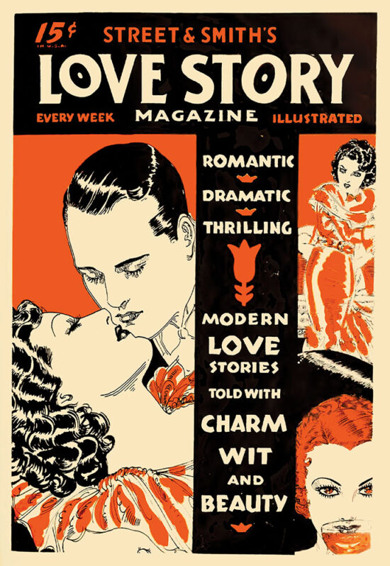 An ad for 'Love Story Magazine' from June 1934