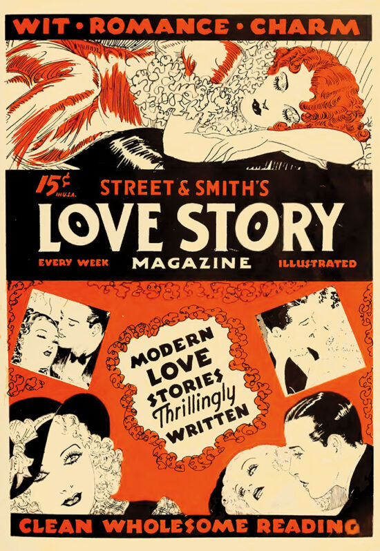 An ad for 'Love Story Magazine' from July 1934