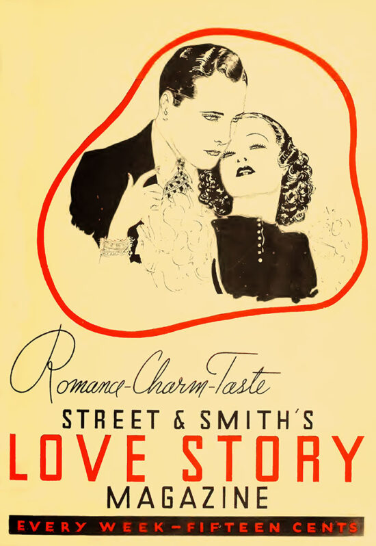 An ad for 'Love Story Magazine' from August 1934