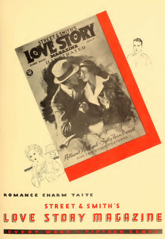 An ad for 'Love Story Magazine' from October 1934
