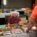 The dealers' room at PulpFest 2017