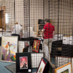Setting up the dealers' room at PulpFest 2017
